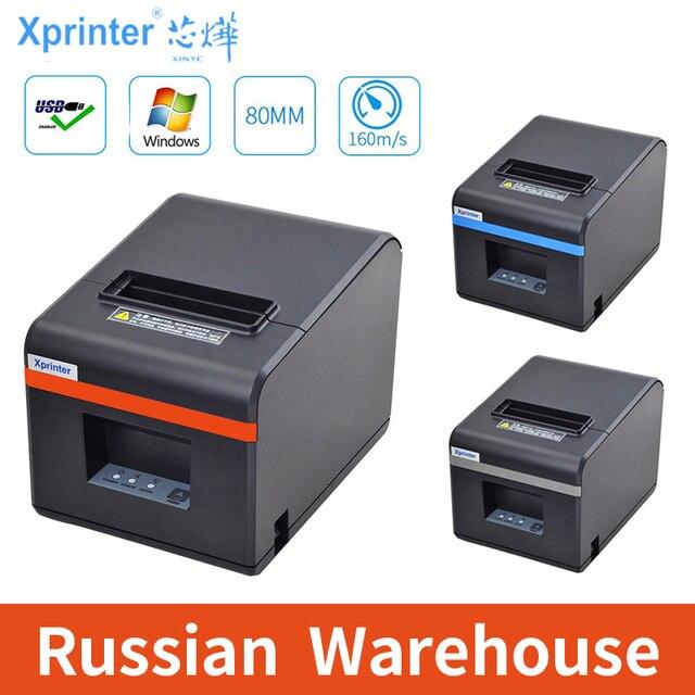 Xprinter 80 Mm Thermische Printers Ontvangst Pos Ticket Printer Met Auto Cutter Voor Keuken Usb/Ethernet Ondersteuning Kassalade esc/Pos