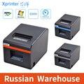 Термопринтер Xprinter 80 мм, принтер для чеков, POS-принтер для билетов с автоматической обрезкой для кухни, Поддержка USB/Ethernet, ящик для наличных де...
