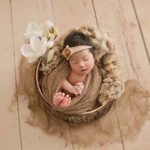 Трикотажная эластичная обертка для новорожденных + шапочка комплект