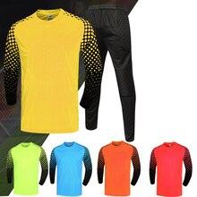 Для детей и взрослых, Футбольная форма вратаря, мужские футбольные майки, комплекты, Детская Футбольная форма вратаря, рубашка, штаны, шорты