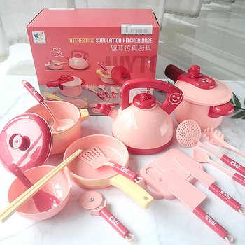 Kitchen Toy Set Utensils Cooking Pots Pans Food Dishes mini simulation Artificial Fruits Kids Cookware pretend play Toys 25pcs kids play house toy kitchen utensils pretend play cooking pots pans food dishes cookware accessory for baby girls boys