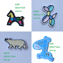 Cartoon Decorative Dog Horse Polar Bear icon Embroidered Applique Patches For DIY Iron on Badges Stickers on backpack,clothes embroidered detail backpack with bear charm 4pcs