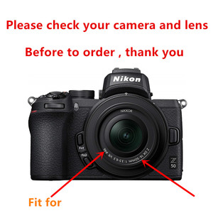 Image 2 - 46mm UV Filter + Metal Lens Hood + Cap + 9H Tempered Glass LCD Screen Protector for Nikon Z50 camera with 16 50mm lens