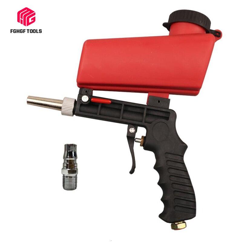FGHGF Tragbare 90psi Schwerkraft Sandstrahlen Pistole Pneumatische Kleine Sandstrahlen Maschine Einstellbare Pneumatische Sandstrahlen Set