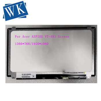 For Acer ASPIRE V7-481 Screen Matrix LCD LED Display 1366x768 1920X1080 FHD Replacement