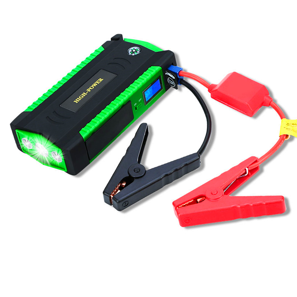 GKFLY Portable Car Jump Starter 12V Petrol Diesel Starting Device 4USB Power Bank 16000mAh Car Battery Charger Buster SOS Lights