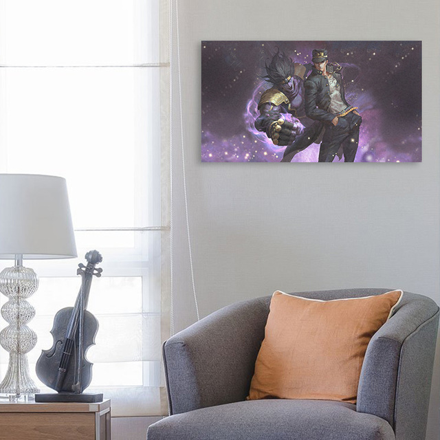 Home Decoration Canvas Platinum JoJo S Bizarre Prints Painting Poster Wall Art Modular Animation Pictures For Bedside Background 2