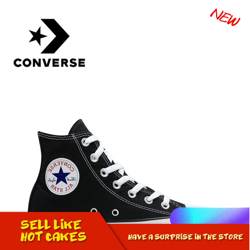 Converse Skateboarding-Shoes Footwear Canvas Non-Slip Classic High-Top All-Star Unisex