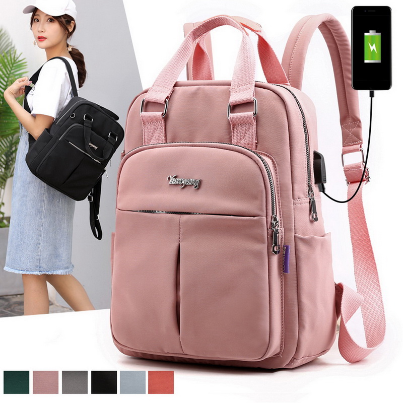 H2111665964244920879b883c07a26e28g - New Waterproof Nylon Backpack for Women Multi Pocket Travel Backpacks Female School Bag for Teenage Girls Dropshipping