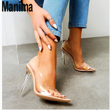 2020 new womens shoes transparent sexy high heel fashion pointed sandals women summer fine