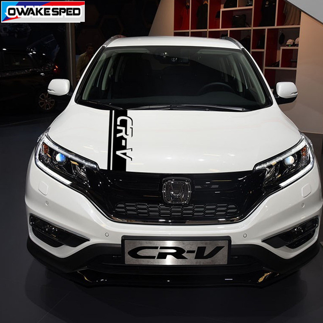 Car Hood Bonnet Sticker Auto Engine Cover Decor Vinyl Decal For Honda-CR-V SUV Racing Sport Stripes Limited Edition 1