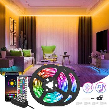 Plastry VIP dropship 5050 listwy RGB Led światła bluetooth WIFI DIY listwy led do sypialni tanie i dobre opinie aiopp CN (pochodzenie) Salon Przełącznik Taśmy 12 v Smd5050 blurtooth led Support 2 4GHZ wifi