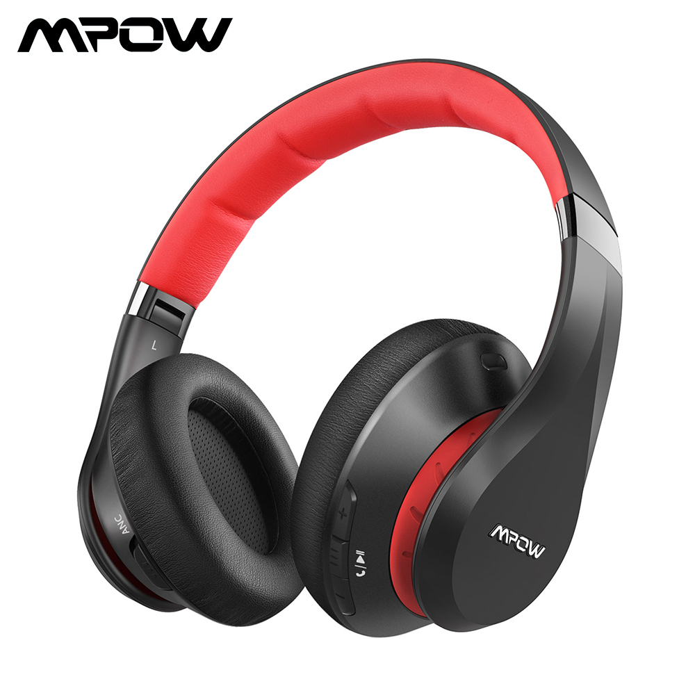 Mpow 059 Plus Wireless Headphones Bluetooth 5.0 ANC Headphone Noise Cancelling HiFi Deep Bass Headset With Mic For Computer New