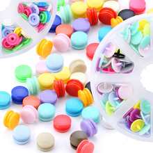 New Fastener Snap Button,T5 12mm Eco-Friendly Plastic Resin Snap Button Press Stud Cloth Clip Press DIY Family Garment Sewing
