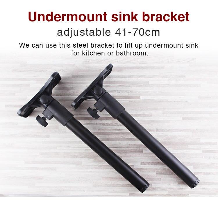 kitchen bathroom undermount sink bracket undermount washbasin installation and repair kit bracket adjustable no drilling