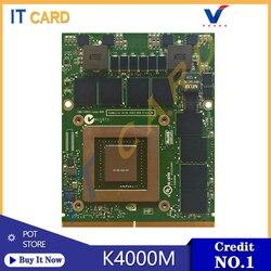 Quadro K4000M K4000 GDDR5 4GB Vedio Grafische Kaart N14E-Q3-A2 Voor Dell M6600 M6700 M6800 HP 8740W 8760W 8770W Laptop 100% Test OK