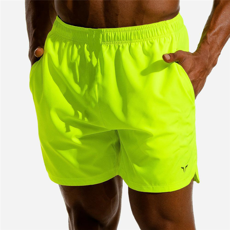 New Men Fitness Bodybuilding Shorts Man Summer Workout Male Breathable Quick Dry Sportswear Jogger Beach Short Pants