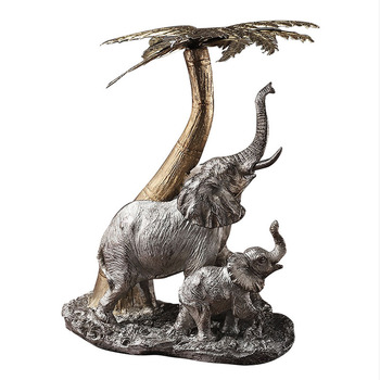 Europe Vintage Mascot Elephant Statue Resin Animal Sculpture Home Decoration Accessories Modern Art Ornament Figurine Room Decor