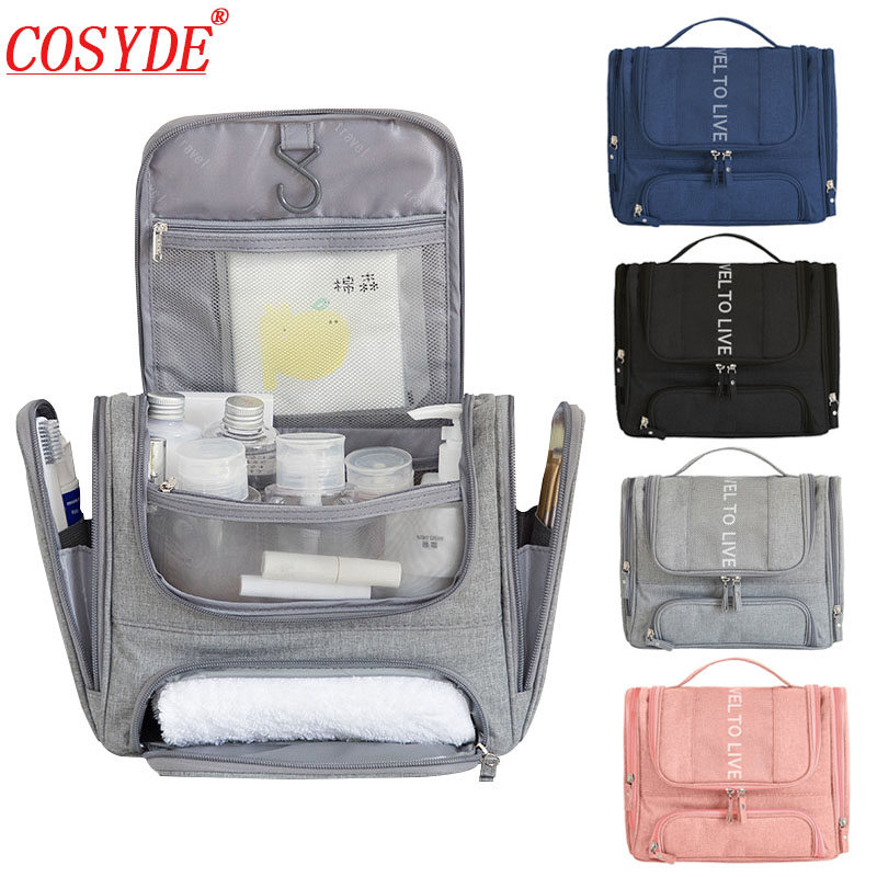 Men Large Makeup Bag Organizer Portable Travel Cosmetic Bag For Make Up Hanging Wash Pouch Beauty Toiletry Kit Women Toilet Bag