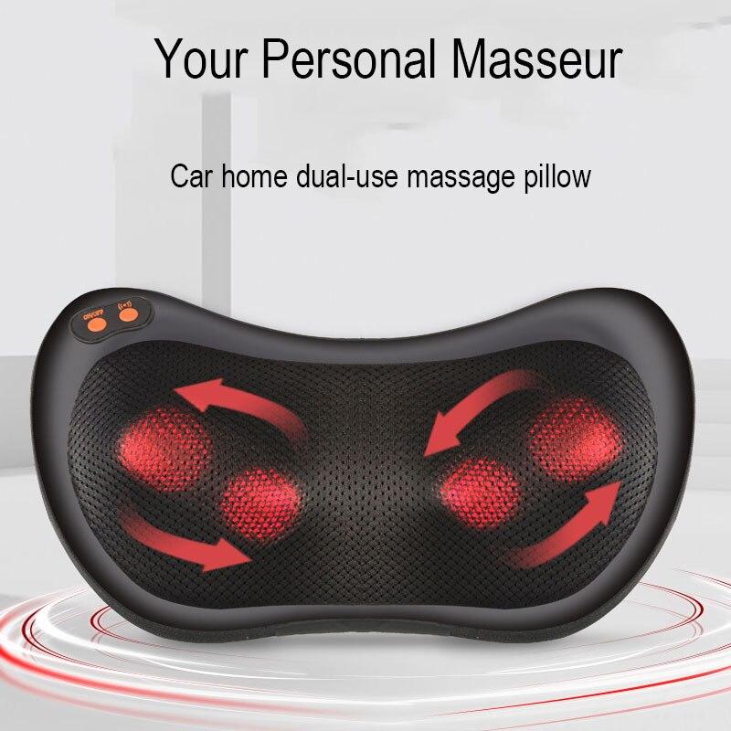 Shoulder Cervical Vertebra Massager Neck Waist Shoulder Body Car Electric Instrment Pillow Multi-Function Cushion Home
