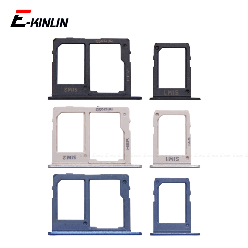 Sim Card / Micro SD Card Tray Socket Holder Slot Container Connector Adapter Reader For Samsung Galaxy J8 J6 J7 J5 2018 2017