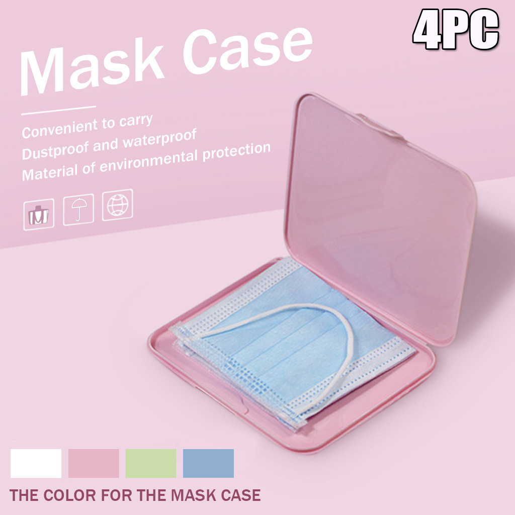 4PCs rosa maschera caso Portatile Maschera Sacchetto di Immagazzinaggio di Prevenzione Dell'inquinamento Da Idrocarburi Comodamente cassa maschera impermeabile porta mascarilla caja 50