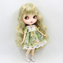 Factory Neo Blythe Doll Golden Mix Green Hair Jointed & Regular Body 30cm
