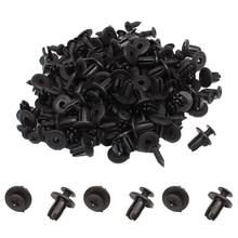 50 шт. черный Универсальный Автомобильный бампер крыло 6 мм отверстие черные пластиковые Заклепки Крепеж Авто аксессуары