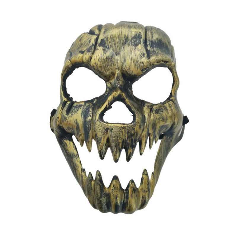 Halloween Kim Loại Nhựa Mặt Nạ Skull Vàng Bạc Cao cấp Full Mặt Đầu Lâu Mặt Nạ Dự Tiệc Cung Cấp Kinh Dị Đạo Cụ