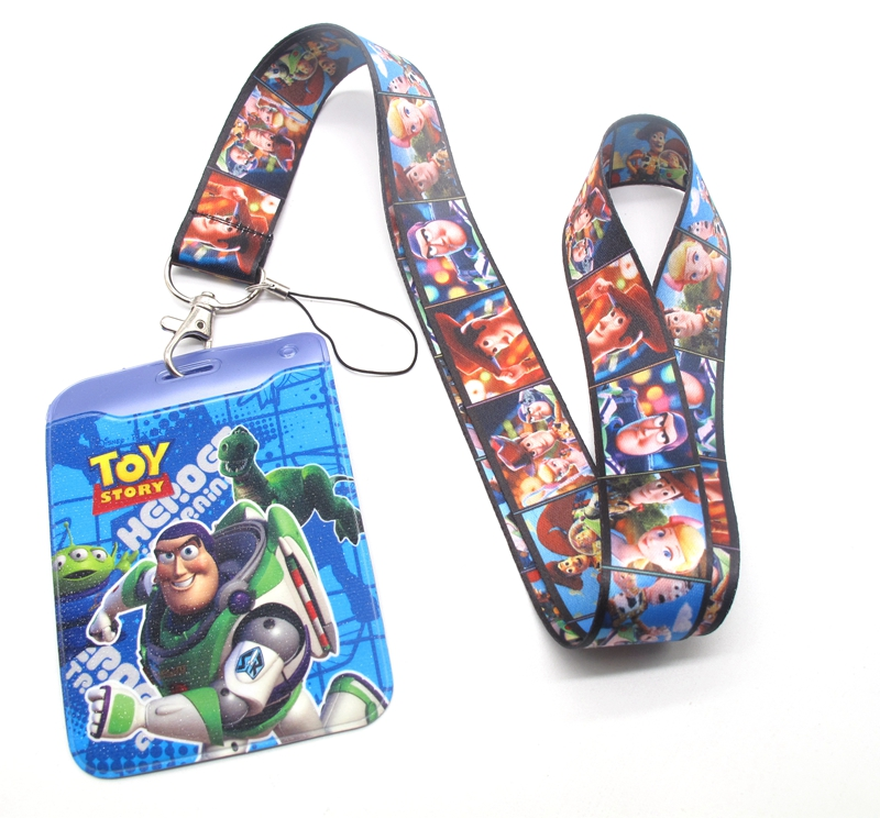Hot 1 Pcs Cartoon Toy  Story   Card Lanyard Key Lanyard Cosplay Badge ID Cards Holders Neck Straps Keyrchains