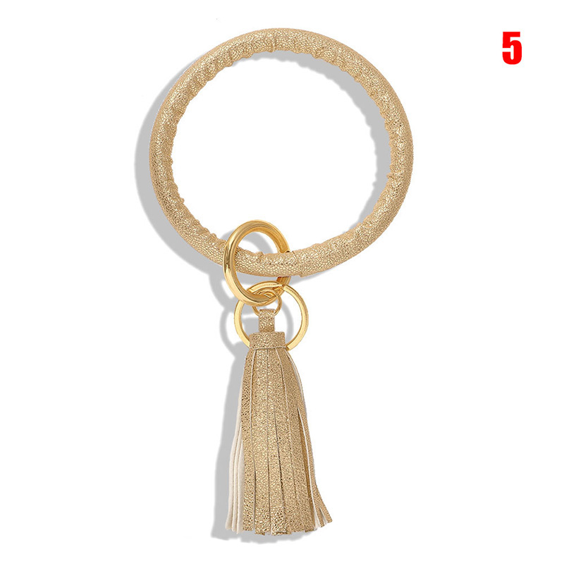 Bracelet Keychain Fringed Classic Alloy Double Ring Key Chain Backpack Accessories GDD99