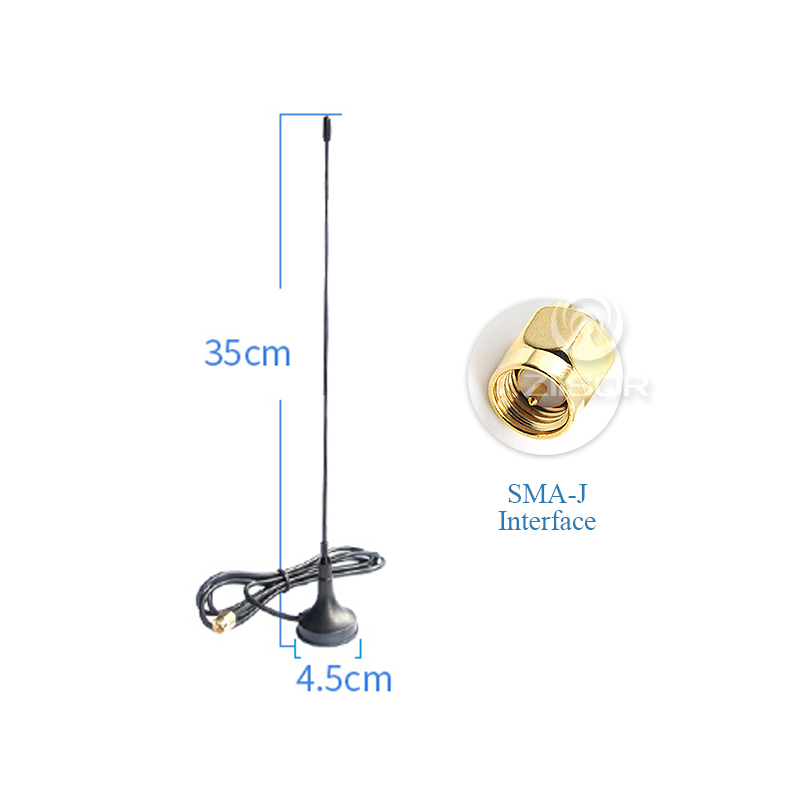 Image 2 - Outdoor 230MHz Antenna with Magnetic Base SMA Male RG58 Feeder High Gain 4dBi Aerial Z33 B230SJ20-in Communications Antennas from Cellphones & Telecommunications