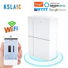 Tuya inteligentne wifi czujnik drzwi 433mhz aplikacja bezprzewodowa kontrola drzwi zabezpieczenie okna Alarm otwarcie czujnik drzwi kompatybilny Alexa/IFTTT