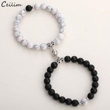 Natural-Stone-Beads Bracelets Magnet Couple Friendship Jewelry Distance Fashion Lovers