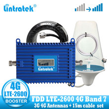 Lintratek 4G LTE 2600 mhz 휴대 전화 신호 증폭기 70dB 4G 인터넷 휴대 전화 셀룰러 부스터 리피터 3G 4G 안테나 B7
