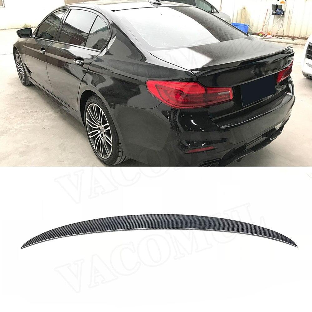 Fits for 2017-2019 BMW G30 G31 530i 540i M550i 5 Series Glossy Black 3D Style Rear Bumper Diffuser Lip