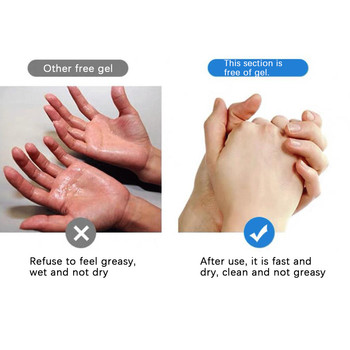 300ml Alcohol-Free Bacteriostatic Portable Mini Portable Hand Sanitize No-wash Hand Gel Portable Hand Cleaner 2