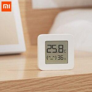 Image 2 - XIAOMI Mijia termometro Bluetooth 2 termometro igrometro digitale elettrico intelligente senza fili funziona con lapp Mijia con batteria
