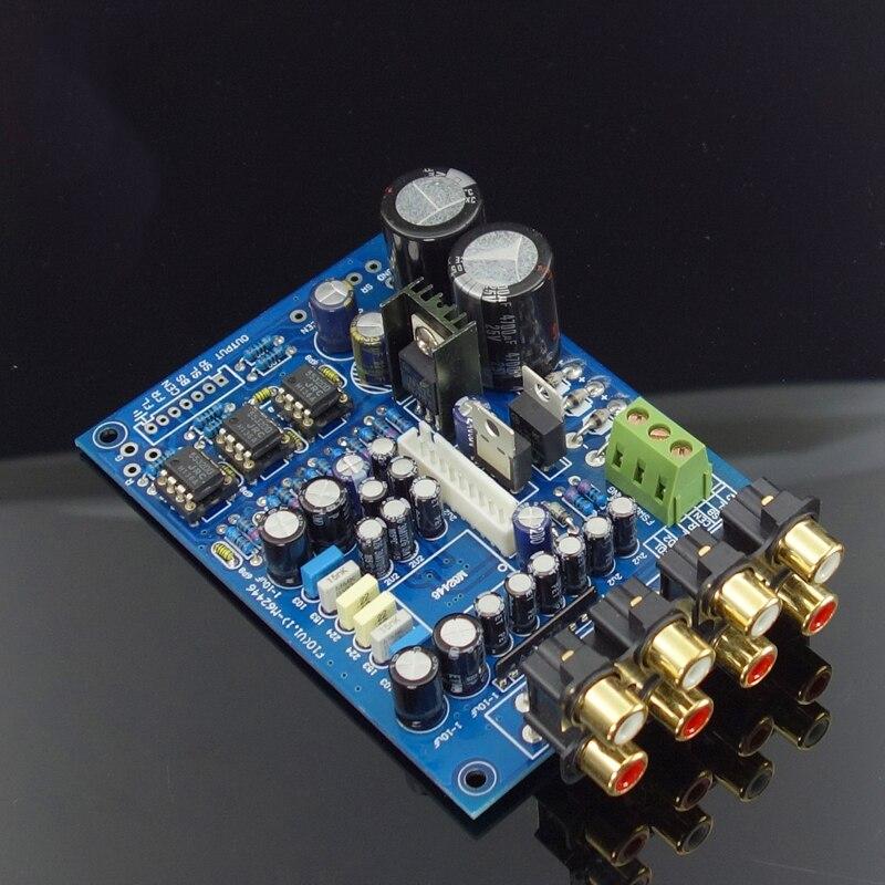 Kit Power Amplifier KYYSLB Board  NE5532 JRC4556 F10 M62446 6-Channel Full Remote Digital PreAmplifier Board