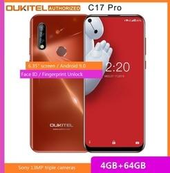 OUKITEL C17 Pro смартфон с 6,35-дюймовым дисплеем, восьмиядерным процессором MT6763, ОЗУ 4 Гб, ПЗУ 64 ГБ, 3900 мАч, Android 9,0