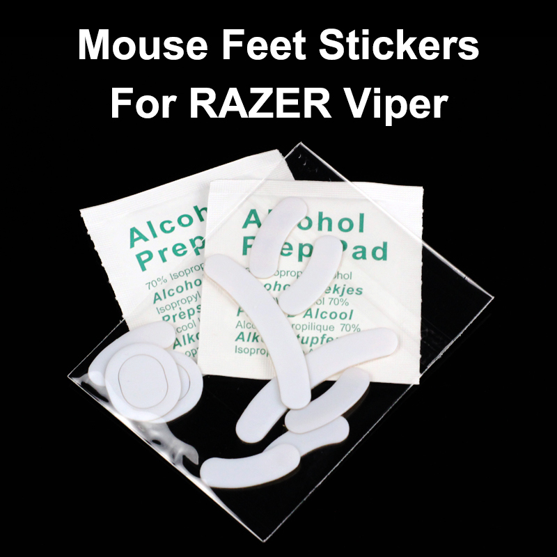 2 Pcs Esports Tiger Gaming Smooth Mouse Feet Skate For Razer Viper DeathAdder Pro MAMBA 4G 5G Gaming White Teflon Glides Curve E