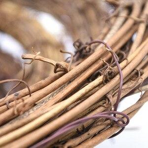 Image 3 - 8 30 センチメートルイースター花輪装飾クリスマスパーティー結婚式花輪の装飾品、自然ドライ花輪diy籐花輪にドア