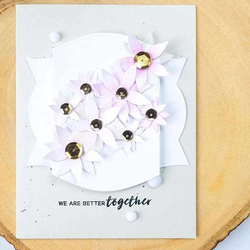 ดอกไม้ตัดโลหะตายตัดตายแม่พิมพ์ตกแต่งสมุดภาพกระดาษหัตถกรรมแม่พิมพ์มีดใบมีด Punch Stencils
