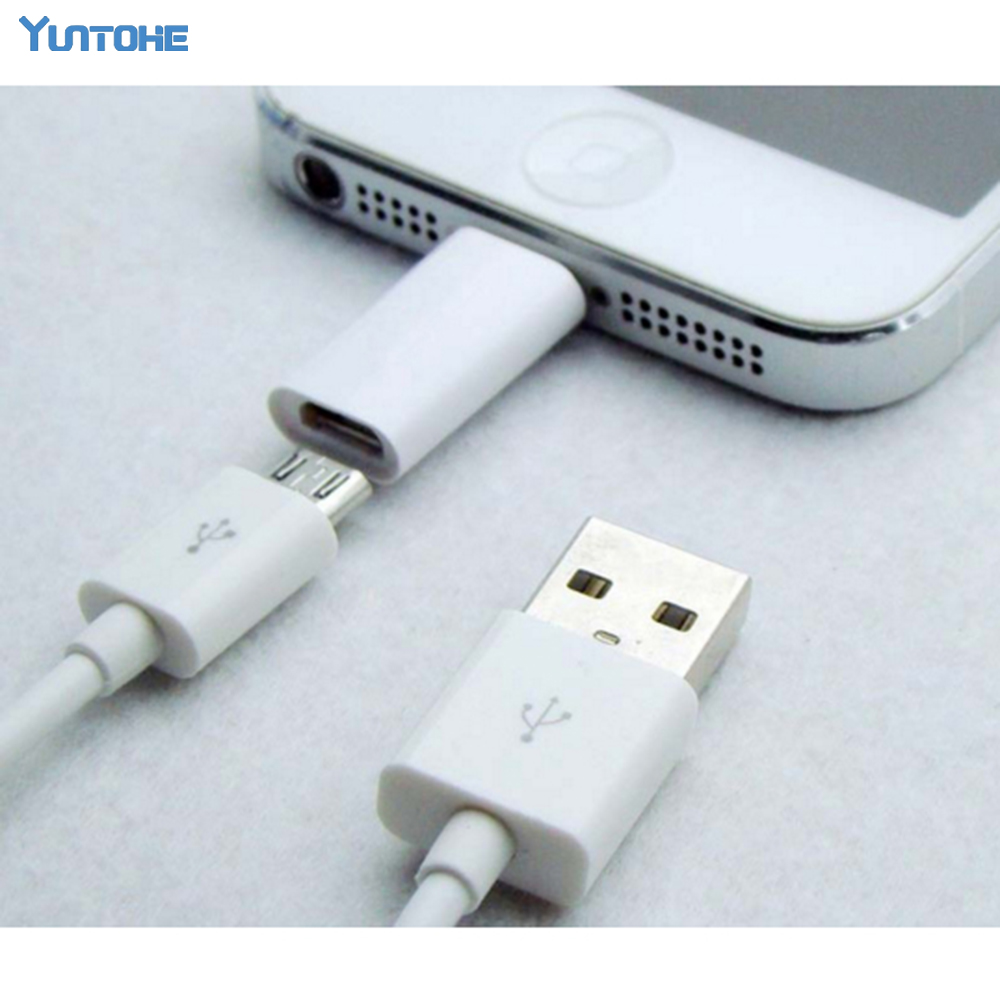 Wholesale 8pin To Micro Adapter For Iphone 7 6 5S 5 Switch Adapter Micro USB 2.0 Adapter For Iphone Ipad IOS 50pcs/lot