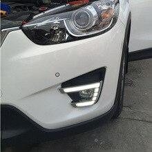For Mazda CX-5 CX5 CX 5 2012 2013 2014 2015 2016 Daytime Running Light LED DRL fog lamp Driving lights Yellow Turn Signal Lamp фаркоп mazda cx 5 без электрики 2012 2015 тип шара а