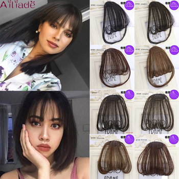 AILIADE Natural Straight small BB hair pins Hair Extensions Women High Temperature Synthetic Bangs Brown/Black Fake - discount item  40% OFF Synthetic Hair
