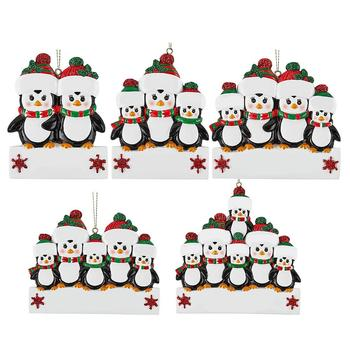 2020 Christmas Ornaments Gift Personalized Hanging Penguin Pendants 3D Resin Santa Claus Christmas Tree Decoration Home Decor image