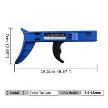 Cable Zip Gun Installation Nylon Fastener Tensioner Tie Cutting Line Tight Tool