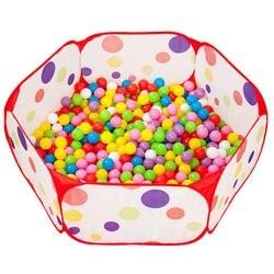 Piłki do suchego basenu dzieci składany basen z piłkami kojec dla dzieci dla dzieci basen z piłeczkami ogrodzenia przenośne bariery bezpieczeństwa dla dzieci zabawkowy domek zabawki