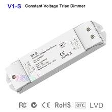 V1-S Enkele Kleur Cv Led Triac Dimmer 1CH * 15A 12V-48V Dc Logaritmische Dimmen Curve Dimmer voor Enkele Kleur Led Strip Licht